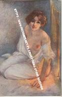 ROUSTEAUX-DARBOURD: Au Coin Du Feu [ Nu Femme CPA Lapina  ] DT066 - Tableaux