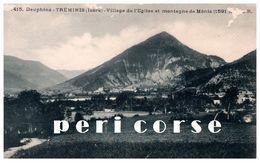38  Tréminis  Village De L'église Et Montagne De Ménis - France