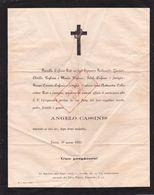 1880 Annuncio Morte ANGELO CASSINIS, TORINO. Pogliani, Carenzi, Coller. - Avvisi Di Necrologio