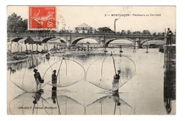 03 ALLIER - MONTLUCON Pêcheurs Au Carrelet - Montlucon
