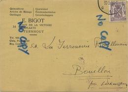 Turnhout :  E. BIGOT  :  Ijzerwinkel ( 2 Scans ) - Turnhout