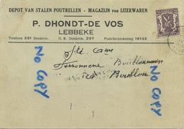 Lebbeke :  P. Dhondt - De Vos  :  Ijzerwaren    (  2 Scans ) - Lebbeke