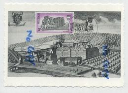 Aulne :  L'abbaye  (  Grand Format )  2 Scans   (  Gozée ) Avec Timbre : Carte Maximum - Zonder Classificatie