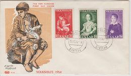 Sarre FDC 1954 Série 334-336 Au Profil Des Oeuvres Populaires - FDC