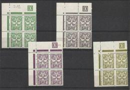 1967 Malta SEGNATASSE  POSTAGE DUE 27/30 D.12 - Perf.12 Quartina MNH** Block-4 - Malta
