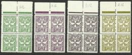 1967 Malta SEGNATASSE  POSTAGE DUE D.12  Perf.12 4 Serie Di 4v. (27/30) Quartina MNH** Bl.4 - Malta