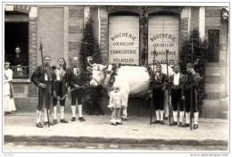 MONTIGNY Sur LOING  Carte Photo:Boucherie COURILLON (Avenue De La Gare) - Autres Communes