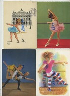BALLET  :  4  Cards  15 X 10.5  Cm - Cartes Postales