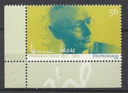 Deutschland / Germany / Allemagne 2002 2270 ** Hermann Hesse - Ongebruikt