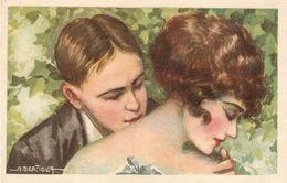"""A. Bertiglia. Erotic Kiss. Couple"" Nice Antique Postcard - Bertiglia, A."