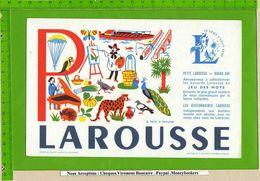 BUVARD : Petit LAROUSSE  26 Mots A Trouver P : Puit , Paon , Peinture , Panier , - Stationeries (flat Articles)