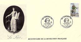 France 1989 - Y&T 2592 - Enveloppe 1er Jour - Condorcet 1743-1794 - La Loi - Lettres & Documents