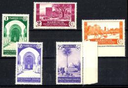 Marruecos Español Nº 148/152 En Nuevo - Maroc Espagnol