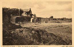CPA - BILLIERS-sur-MER (56) - Aspect Des Rochers Et De La Plage Des Barges Dans Les Années 30 - France