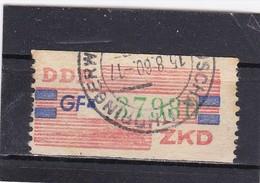DDR, Dienst: ZKD Nr.27-GF, Gest. (T 2927) - DDR