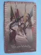 UNIS Pour La Liberté / LIBERTE ( 1069 - Patriotic ) Anno 19?? ( Voir Photo Pour Détail Svp ) Liberty / Liberté ! - France