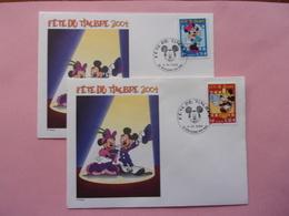 FDC Disney, Minnie Mickey Fête Du Timbre 2004 BD - Disney