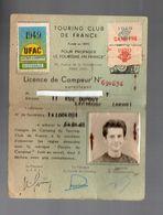 (camping) Lectoure (32 Gers) Licence De Campeur 1949 (PPP7924) - Vieux Papiers