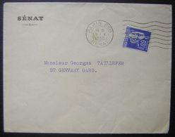 1938 Lettre Du Sénat Avec Perforé S (Sénat) Sur N°365 Cachet Paris Sénat - France