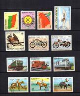 Burkina  Faso  1985  .-  Y&T  Nº   640/642-647-652-654/655-656/658-659/661 - Burkina Faso (1984-...)