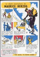 Buvard SANTE SOBRIETE  : Maurice Herzog  (PPP7927) - Buvards, Protège-cahiers Illustrés