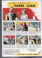 Buvard SANTE SOBRIETE  : Pierre Curie  (PPP7928) - Buvards, Protège-cahiers Illustrés