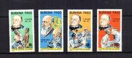 Burkina  Faso  1987  .-  Y&T  Nº   737/740   ** - Burkina Faso (1984-...)