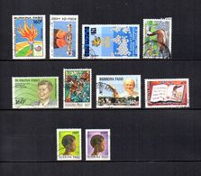Burkina  Faso  1988-90  .-  Y&T  Nº   771-780-788-792-795-797-816-820-836-837 - Burkina Faso (1984-...)