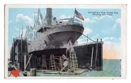 21082-LE-ETATS UNIS-Galveston's - New 10,000 Ton-Floating Dry Dock----------bateau - Galveston