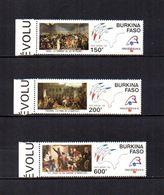 Burkina  Faso  1989  .-  Y&T  Nº   322/324     Aéreos    ** - Burkina Faso (1984-...)