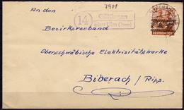 Brief Posthilfstelle/Landpost Göttingen über Ulm Donau  (5934 - Sellos