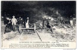 Les Clayes Sous Bois   CATASTROPHE DE VILLEPREUX LES CLAYES 18 Juin 1910 Edit Léon Puthon à Villepreux - Les Clayes Sous Bois