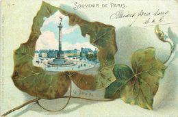 PARIS - Souvenir De Paris ,la Bastille. - Plazas