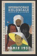 PARIS 1931 - Internationale Koloniale Ausstellung - Exposiciones