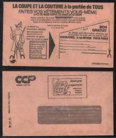 CONFECTION - HABILLEMENT - TEXTILE / 1966 ENVELOPPE EN FRANCHISE POSTALE DES CCP ILLUSTREE (ref 7760) - Textile