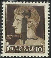 ITALIA REGNO ITALY KINGDOM 1944 SAGGI REPUBBLICA SOCIALE ITALIANA RSI CENT. 10c MNH SAGGIO PROVA FASCIO NERO FIRMATO - 4. 1944-45 Repubblica Sociale