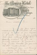 Rochester état De New York - Entête 189? -  The Powers Hôtel - Absolutely Fire Proof - Buck & Ganger. Propriétors. - Etats-Unis