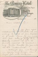 Rochester état De New York - Entête 189? -  The Powers Hôtel - Absolutely Fire Proof - Buck & Ganger. Propriétors. - United States