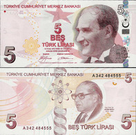 Turkey 2009 - 5 Lirasi - Pick 222 UNC - Turquie