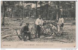 7.-Forêt De Senart.-Bûcherons De La Forêt Au Travail.Buret Edit Ivry. - Sénart