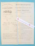 Albert DAGRET - Procédé Photo-Electrique - Talence Bordeaux - Facture 1909 - Procédé Reproduction Photographies - Photographie