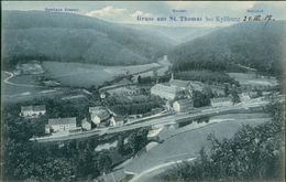 AK St. Thomas Bei Kyllburg Eifel, Gasthaus Erasmy, Kloster, Bahnhof, Um 1907 (29461) - Allemagne