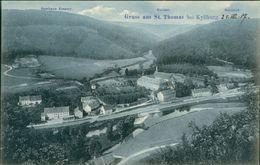 AK St. Thomas Bei Kyllburg Eifel, Gasthaus Erasmy, Kloster, Bahnhof, Um 1907 (29461) - Duitsland