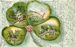 GRUSS AUS DEM HARZ - Carte 1900 Illustrée. - Allemagne