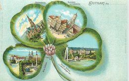 GRUSS AUS STUTTGART - Carte 1900 Illustrée. - Stuttgart