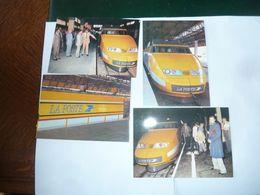 4 CPM  TGV Postal à Quai Lyon Montrochet - Poste & Facteurs
