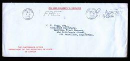 A5242) Canada Dienstbrief Ottawa 11/22/50 N. USA - 1937-1952 George VI