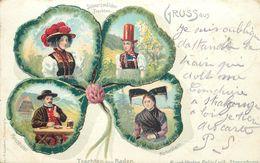 SCHWARZWÄLDER TRACHTEN- Carte 1900 Illustrée.costumes Folkloriques. - Autres