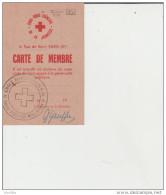 Issy Les Moulineaux-Carte De Membre Croix Rouge Française De La Jeunesse. - Vieux Papiers