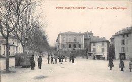 """¤¤  -   PONT-SAINT-ESPRIT   -   Place De La République  -  Café De La Bourse  -  Boulangerie """" SALAMBAUD """"    -  ¤¤ - Pont-Saint-Esprit"""